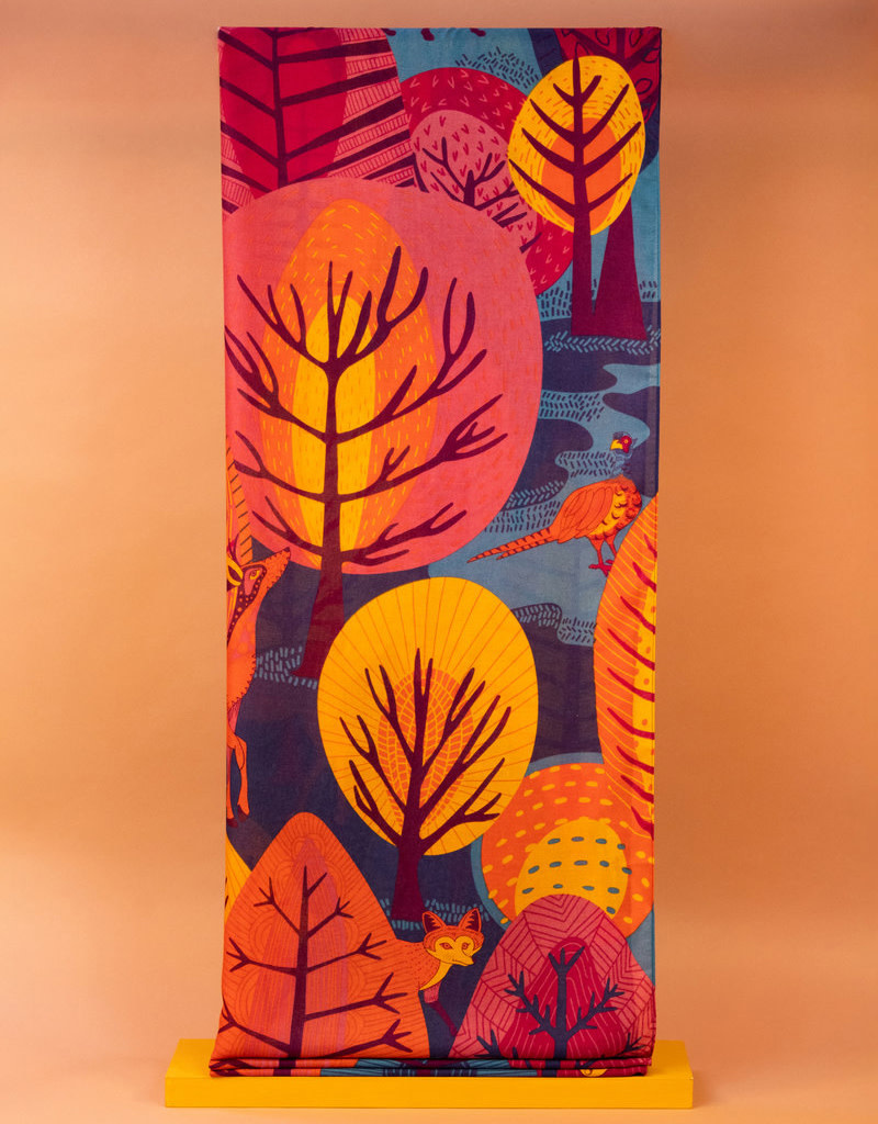 Powder Design Print Scarf Scandi Forest Teal Mix