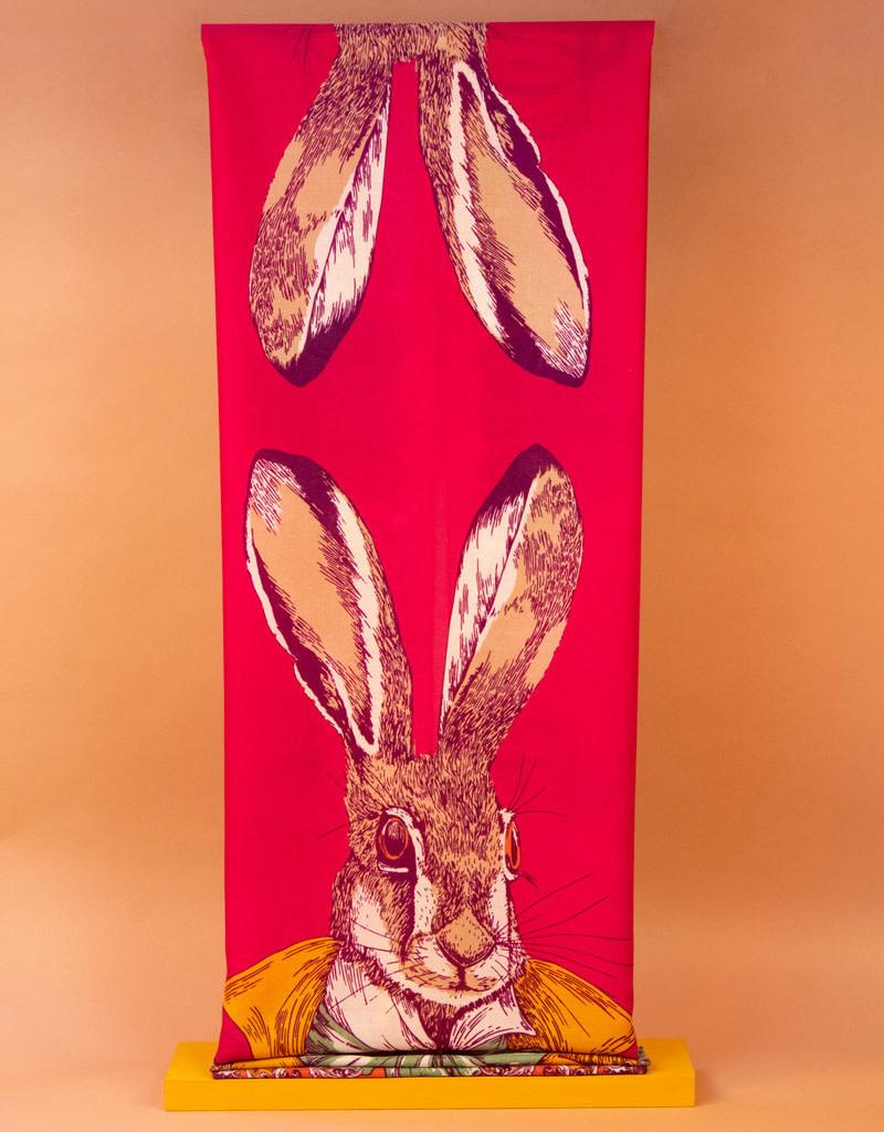 Powder Design Print Scarf Gentleman Hare