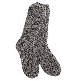 Crescent Sock Company Boucle Crew Socks Black