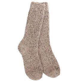Crescent Sock Company Boucle Crew Socks Taupe