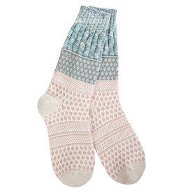 Crescent Sock Company Gallery Textured Crew Socks Sage Confetti
