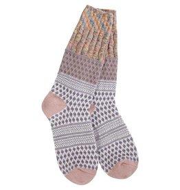Crescent Sock Company Gallery Textured Crew Socks Taupe Confetti