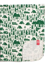 Winter Water Factory Lightweight Blanket Campground Green