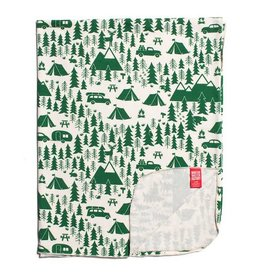 Winter Water Factory Lightweight Blanket Campground Green