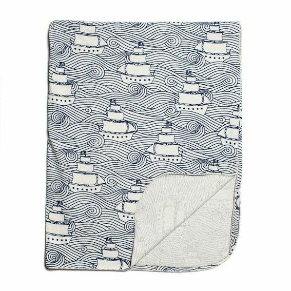 Winter Water Factory Lightweight Blanket High Seas Navy
