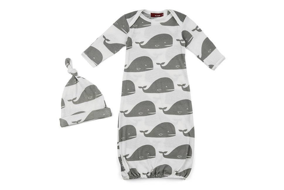 Milkbarn Gown & Hat Set in Grey Whale