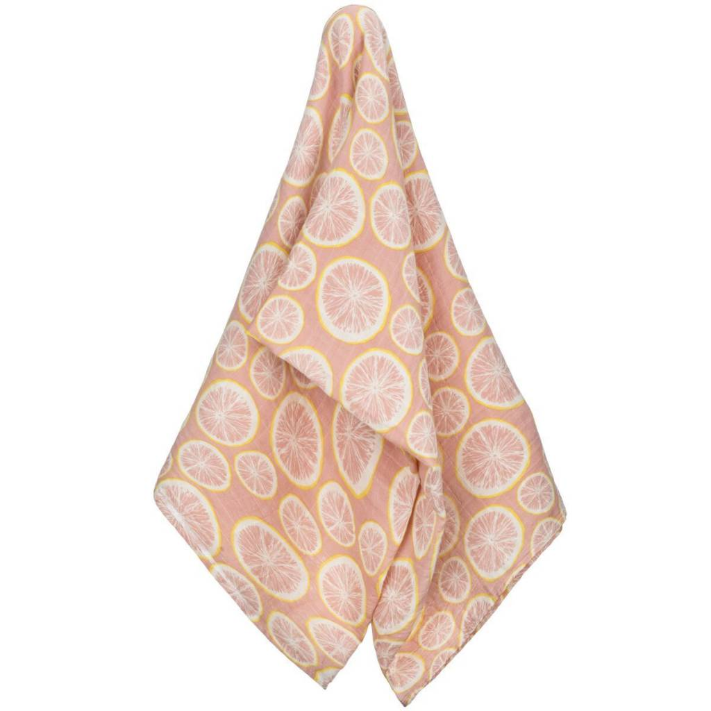 Milkbarn Muslin Swaddle in Grapefruit