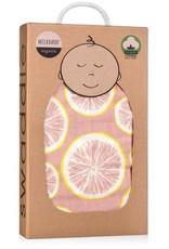 Milkbarn Swaddle Blanket in Rose Grapefruit