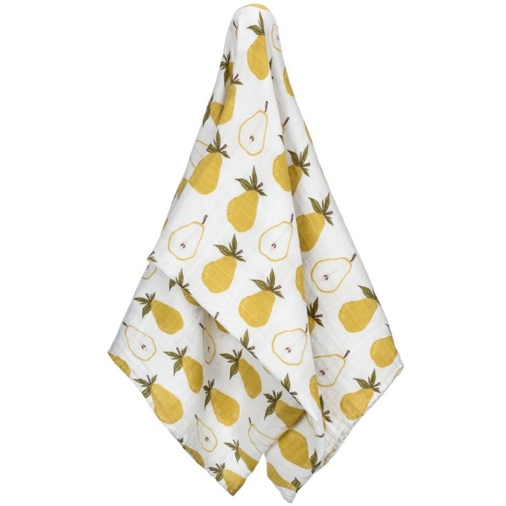 Milkbarn Swaddle Blanket in Yellow Pear