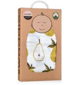 Milkbarn Muslin Swaddle in Pear