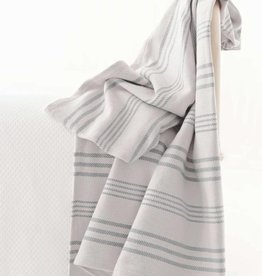 Dash & Albert Aland Stripe Woven Cotton Throw