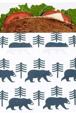 3greenmoms Reusable Sandwich Bag Charcoal Bear (Velcro)