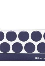 Lunchskins Reusable Snack Bag Dot Navy (Zippered)