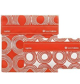 3greenmoms 2-Pack Reusable Bag Set Sunset Circles (Velcro)