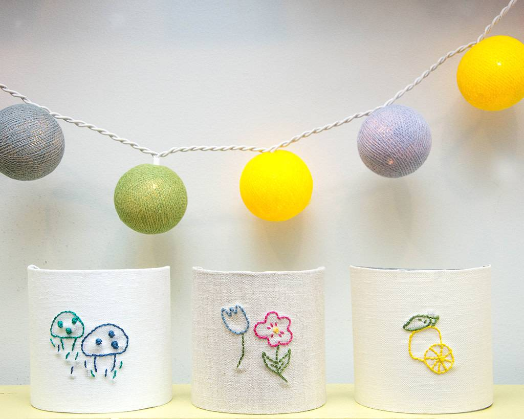 Kreatelier Night Light Embroidered Lemon