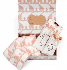 Milkbarn Keepsake Set in Rose Elephant