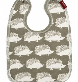 Milkbarn Bib Grey Hedgehog