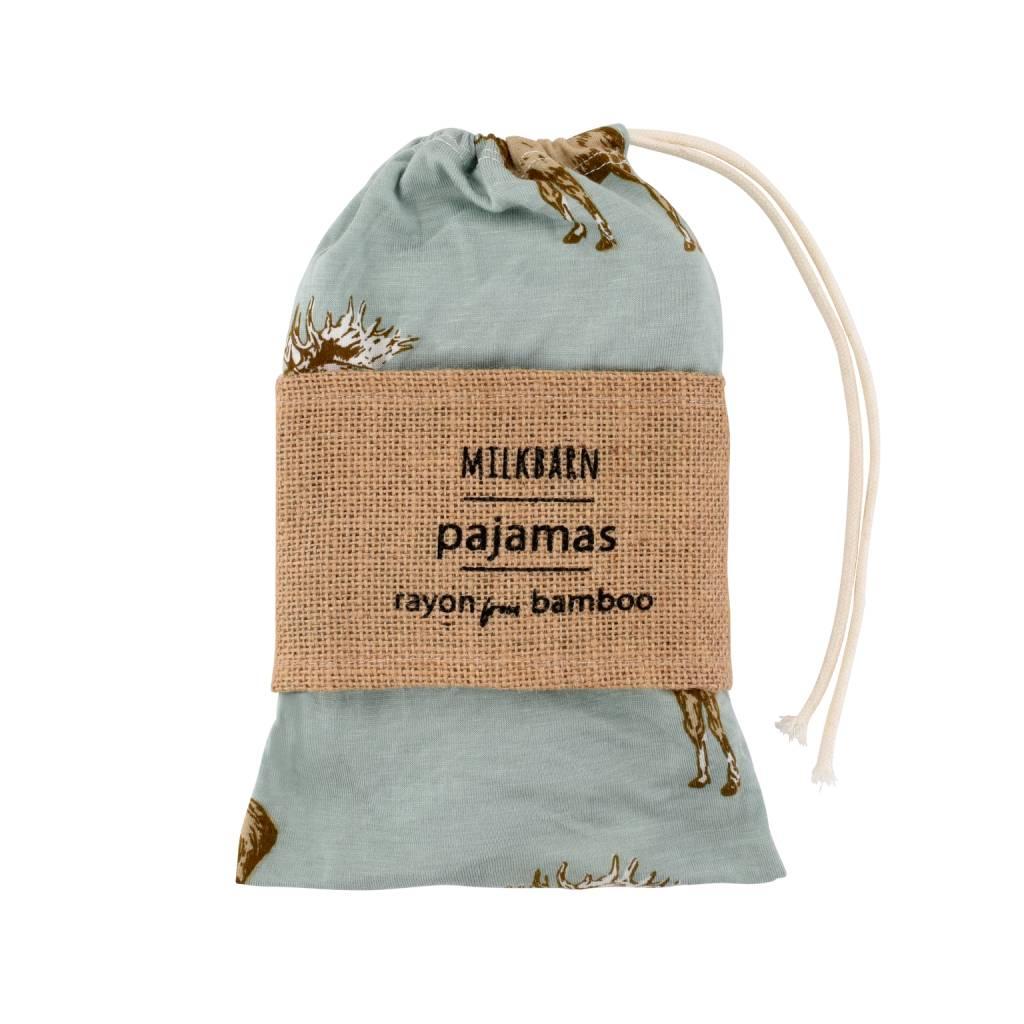Milkbarn Bamboo Zipper Pajama Rose Floral