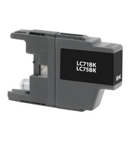 For Brother LC-75 Black High Yield