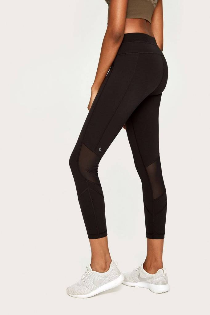 LOLE BURST ANKLE LEGGING BLACK