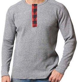 STANFIELDS Waffle Knit Henley Shirt Mens