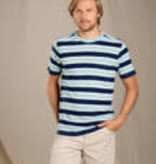Toad & Co Grom SS Tee-Deep Navy Bold Stripe L Men