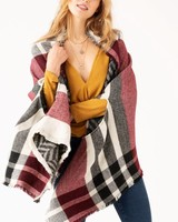 Plaid Blanket Kimono