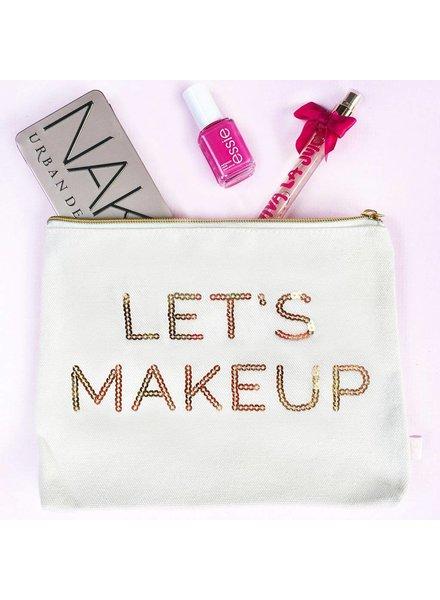 Sweet Water Decor Let's Makeup Makeup Bag