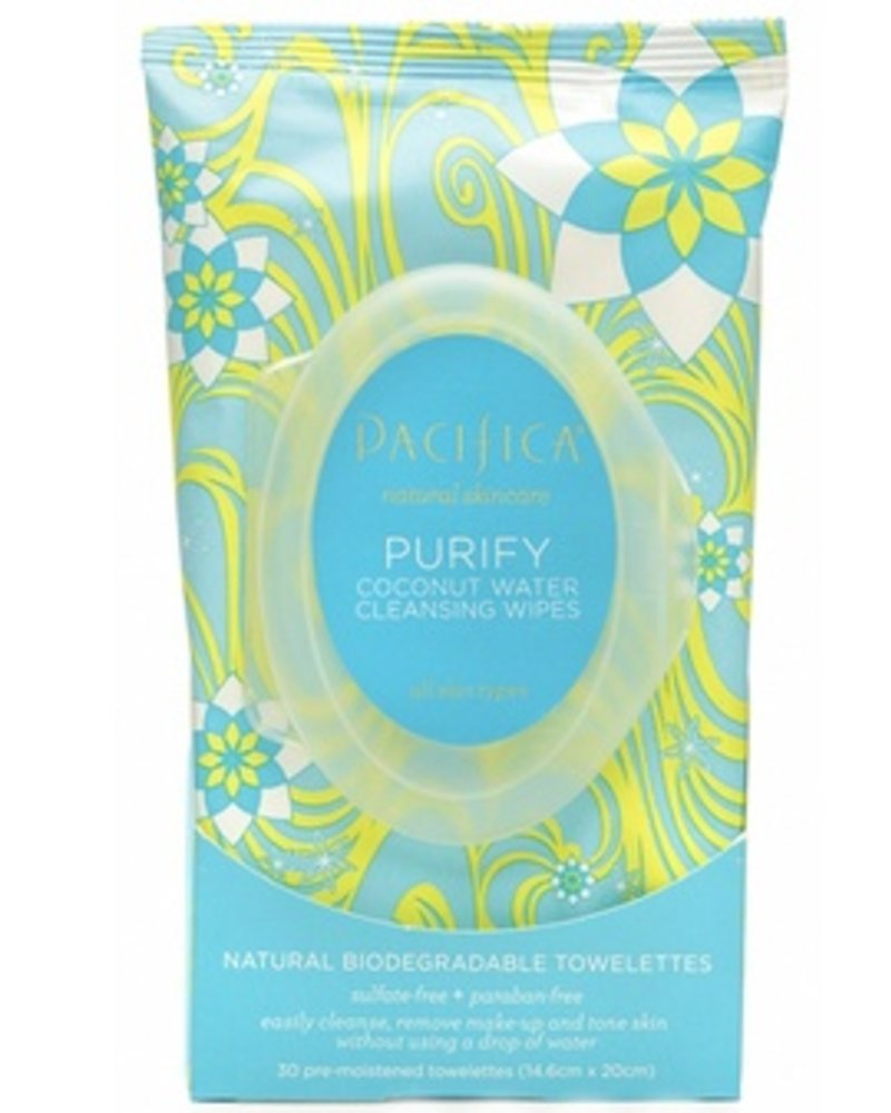 Pacifica Purify Coconut Water Cleansing Wipes 30 ct