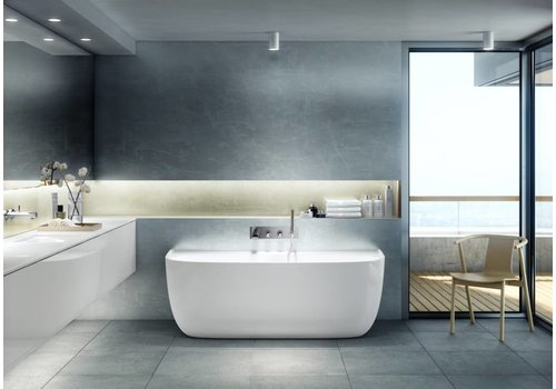 Victoria + Albert Victoria + Albert - Eldon - freestanding 'back to wall' bath with overflow