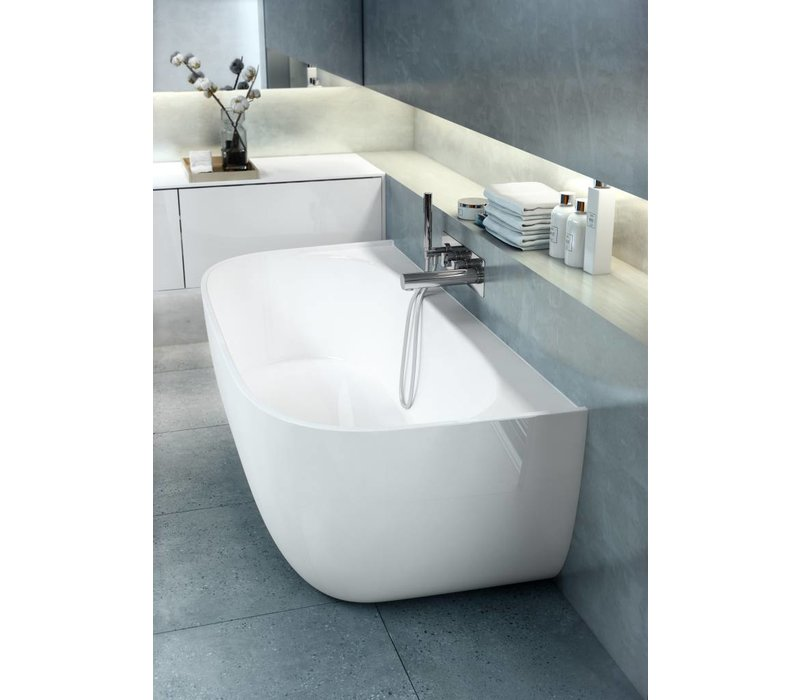 Victoria + Albert - Eldon - freestanding 'back to wall' bath with overflow