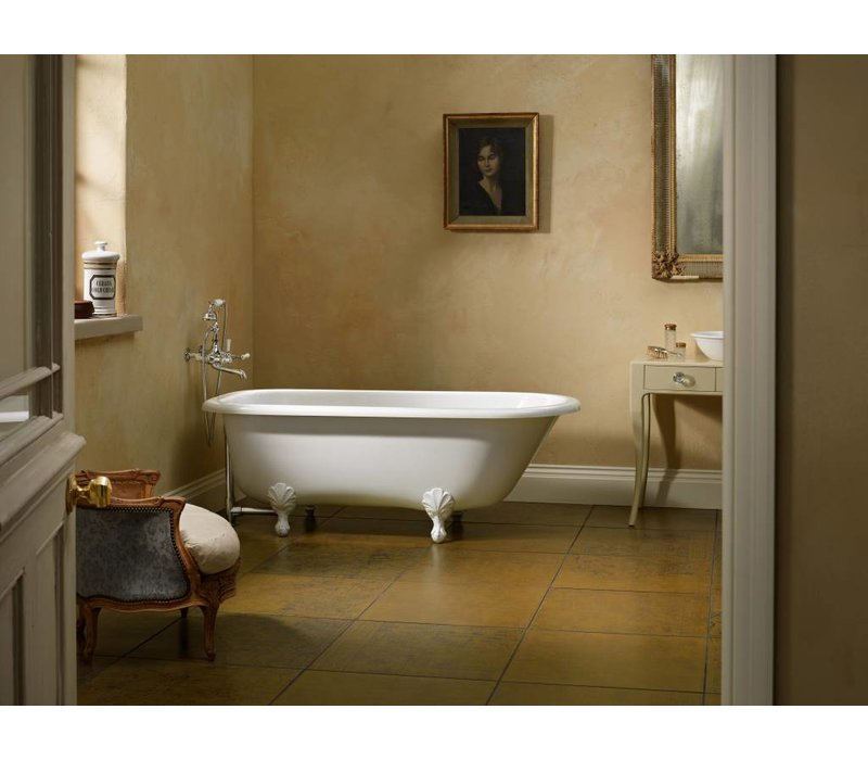 Victoria + Albert - Hampshire - freestanding tub with overflow. Polished Chrome Ball & Claw feet