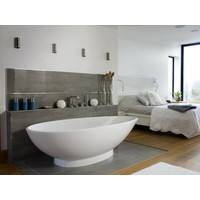 Victoria + Albert - Napoli - freestanding 'egg-shaped' tub with overflow on right side