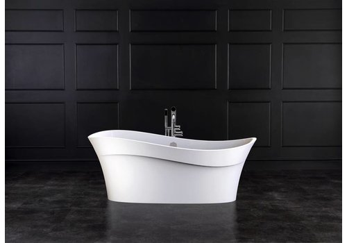 Victoria + Albert Victoria + Albert - Pescadero - freestanding 'wave-shaped' tub with overflow on left side