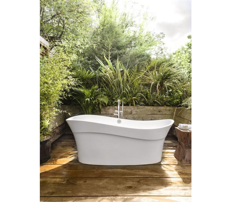 Victoria + Albert - Pescadero - freestanding 'wave-shaped' tub with overflow on left side