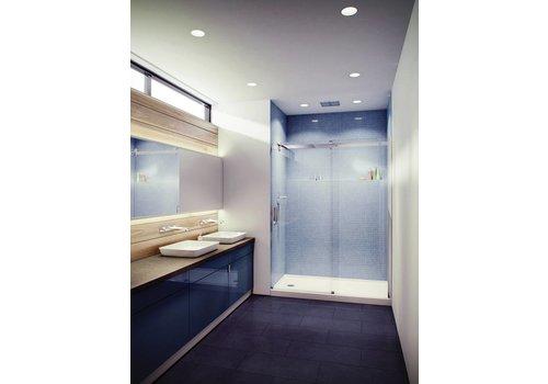 """Slik Slik - Flow 60"""" Alcove shower door - 3/8"""" & 5/16"""" clear glass"""