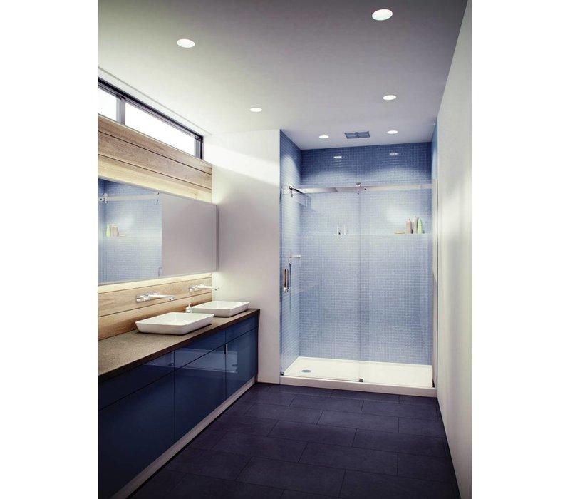 """Slik - Flow 60"""" Alcove shower door - 3/8"""" & 5/16"""" clear glass"""