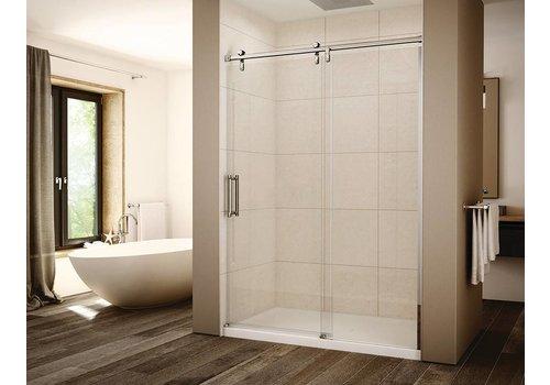 "Slik Slik - Eclipse 60"" Alcove shower door - 3/8"" clear laminated glass"