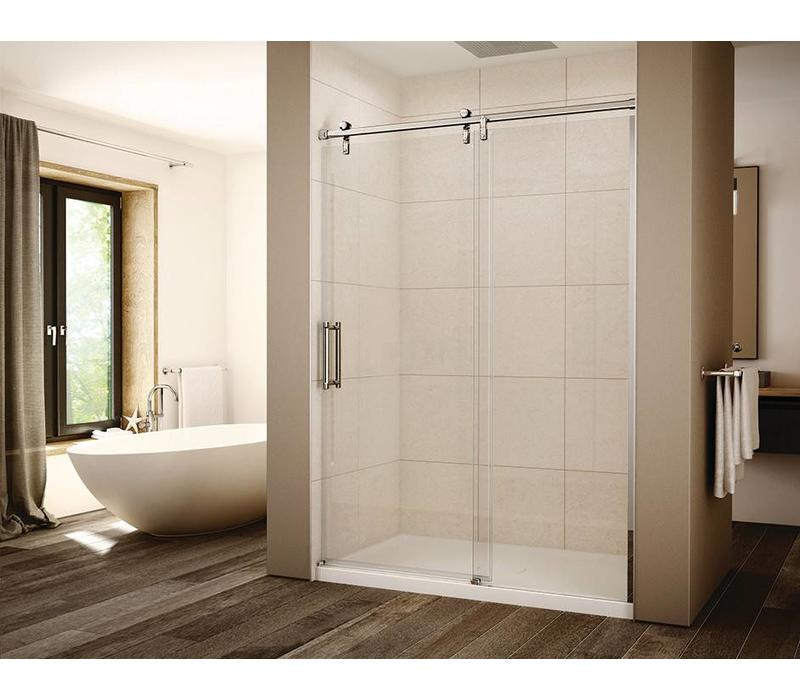 "Slik - Eclipse 60"" Alcove shower door - 3/8"" clear laminated glass"