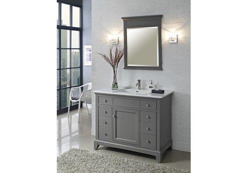 "Fairmont Design's Fairmont Design's - Smithfield - 42"" Vanity - Medium Gray - 1504-V42"
