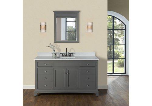 "Fairmont Design's Fairmont Smithfield Med Gray 60"" Single Bowl Vanity"