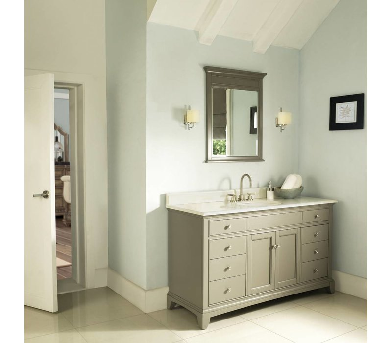 "Fairmont Smithfield Med Gray 60"" Single Bowl Vanity"