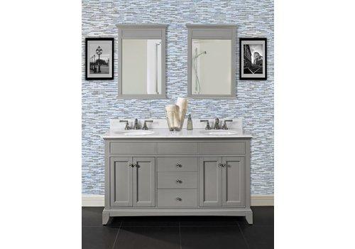 "Fairmont Design's Fairmont - Smithfield - Med Gray 60"" Double Bowl Vanity"