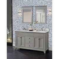 "Fairmont - Smithfield - Med Gray 60"" Double Bowl Vanity"