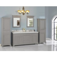 "Fairmont - Smithfield - Med Gray 72"" Double Bowl Vanity"