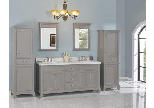 "Fairmont Design's Fairmont - Smithfield - Med Gray 72"" Double Bowl Vanity"