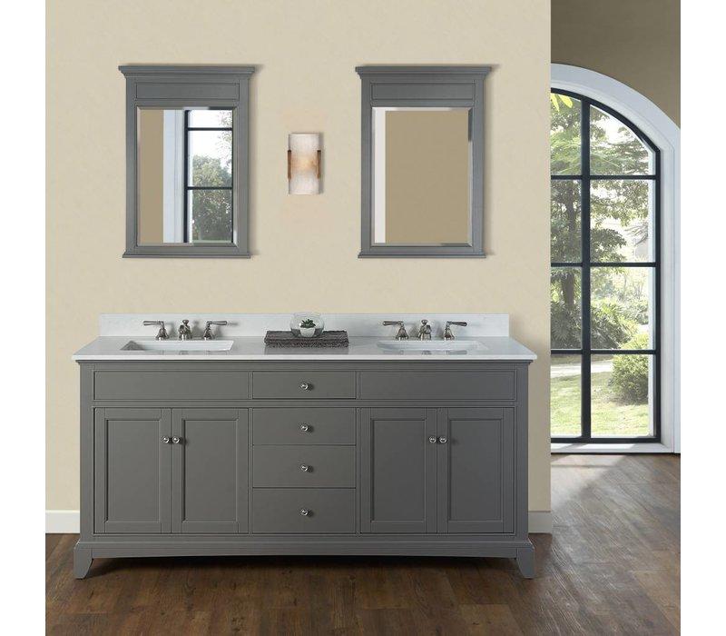 "Fairmont Design's - Smithfield - 72"" Double Bowl Vanity - Medium Gray - 1504-V7221D"