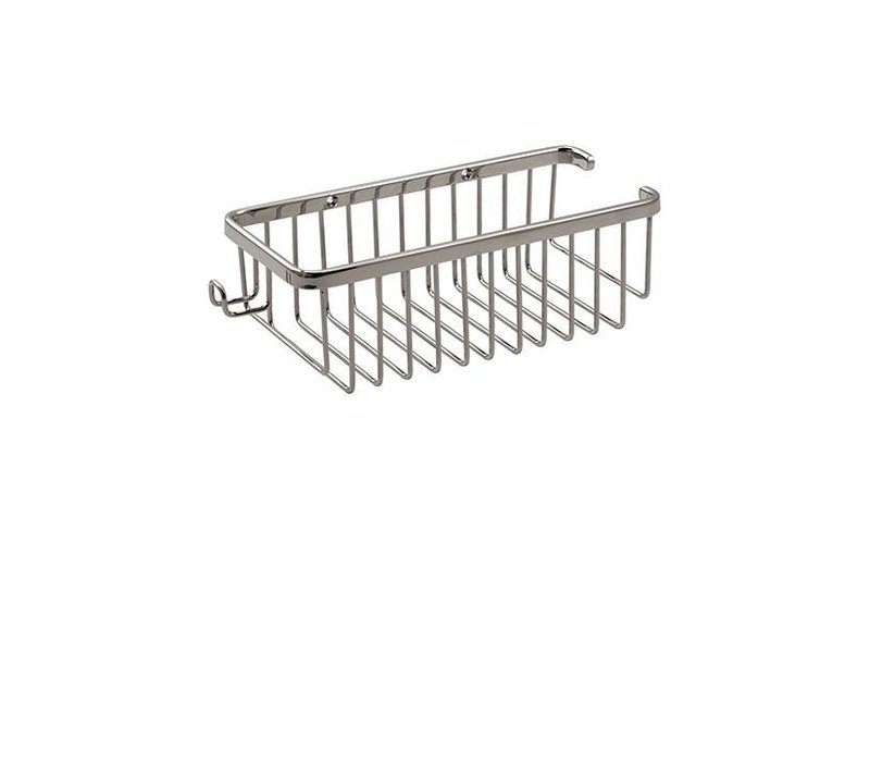 Aquabrass - Wire basket with razor handle - 2054