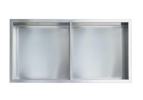 "Gena Gena Shower Niche - 12"" x 24"" 50/50 Shelf"