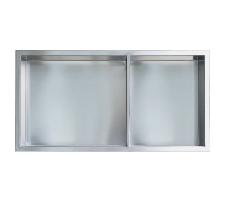 "Gena Shower Niche - 12"" x 24"" 60/40 Shelf"